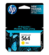 HP CB320WA #564 Yellow Ink Cartridge