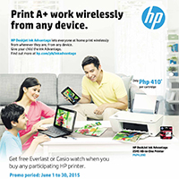 HP IA Printer - Back to School Promo  Extended until August 31,2015!