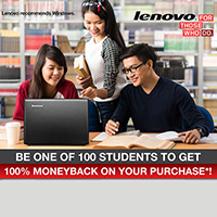 Lenovo Cash Back Promo