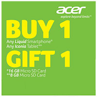 Acer Buy 1, Gift 1, FREE Micro SD Card Promo