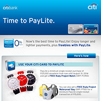 Citibank Time to Paylite Promo