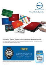 Dell Inspiron 14R Notebook with Interchangeable Lids - Pop. Click. Switch. Promo