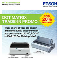 EPSON DOT MATRIX TRADE-IN PROMO