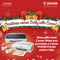 PIXMA Early Christmas Promo