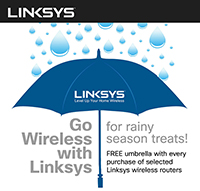 Go Wireless with Linksys for rainy season treats!