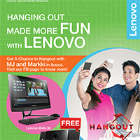 HANGING OUT MADE MORE FUN WITH LENOVO