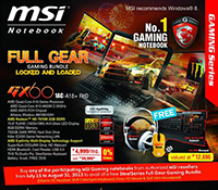 MSI FULL GEAR GAMING BUNDLE