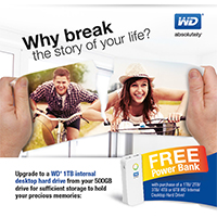 WD Internal Desktop Drives End User Promo